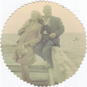 Lisette et Stan, un an plus tard, en 1963, jetée de Trouville