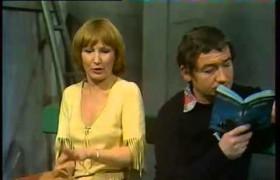 """Evelyne Grandjean et Pierre Desproges à l'époque de """"Qu'elle était verte ma salade"""", Café-Théâtre """"Les 400 coups"""", 1977"""