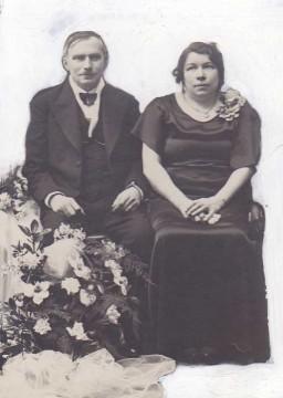 Ma grand-mère, née Binet, épouse Durchon, lors de son mariage le 12 juillet 1913