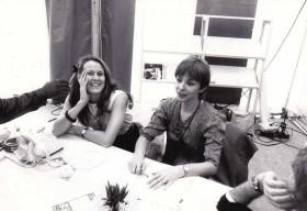 Béatrice Soulé, gauche cadre, Nicole Higelin à droite
