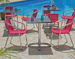 fauteuils rose