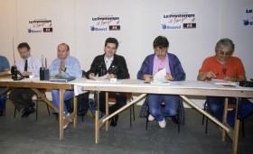 Staff Printemps de Bourges en 1989, François Carré, Lipo, Fernando Ladeiro Marques, Daniel Colling, Maurice Frot