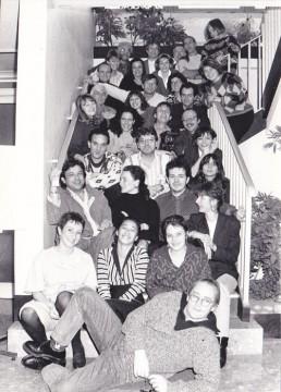 Quelques années plus tard (1991) l'équipe autour de Colling. On comprendra que je ne puisse citer tout le monde...