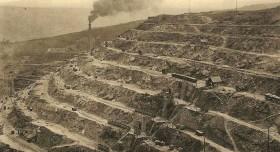 Les mines à ciel ouvert en début de siècle à Decazeville