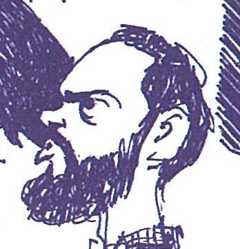 Jacques Vassal croqué par Cabu