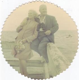L'image que j'aime à garder de mes parents, 1963, jetée de Trouville.