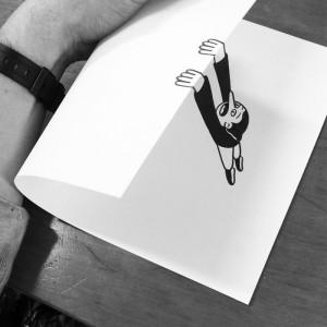 L'angoisse de la page blanche illustrée par l'étonnant dessinateur danois HuskMitNavn.
