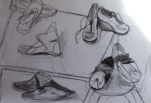 esquisses-chaussures