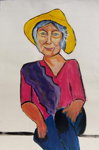 femme-chapeau-jaune